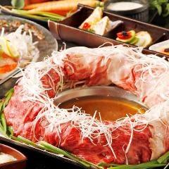 ■黒毛和牛赤身&松阪牛霜降りの肉炊き鍋