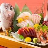 御宴会にオプションOK■新鮮!鯛姿付のお造り盛り合わせ