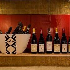 ワイン中心に豊富なドリンクメニュー
