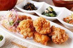 【一汁六菜バランス定食】若鶏の竜田揚げ 柚子塩ぽん酢