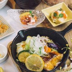 【一汁六菜バランス定食】真鯛とごろっと野菜のレモンガーリック醤油