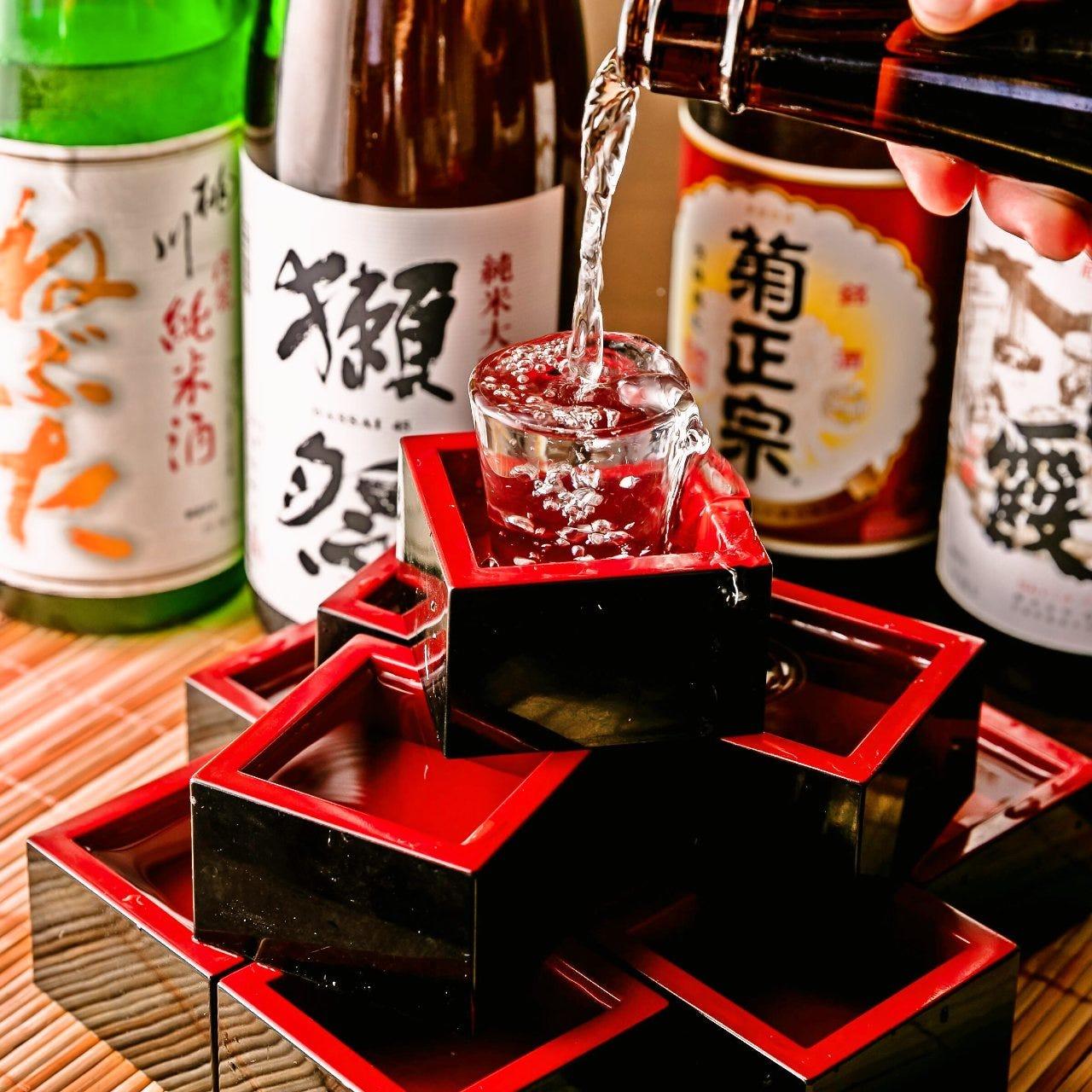 銘酒含めた種類豊富な「和酒」