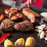 バーベキューのお肉は系列の焼肉屋さんから直送!