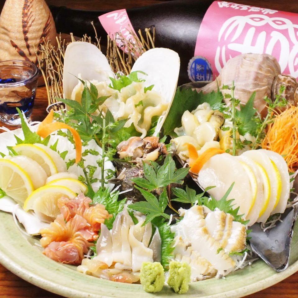 貝刺も浜焼きも楽しめる!〆のご飯も貝の旨味が・・・