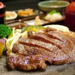 溶岩焼き牛ロース定食 「高級トリュフ醤油だれ~」