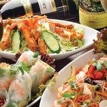 アジアン料理を思う存分お楽しみください