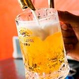 泡まで美味しい生ビール!