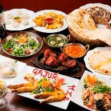 【3時間飲み放題付】インド料理&タイ料理&ネパール料理などアジアン料理〈全11品〉Bコース