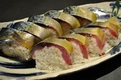 脂の乗った最高の鯖の棒寿司1200円