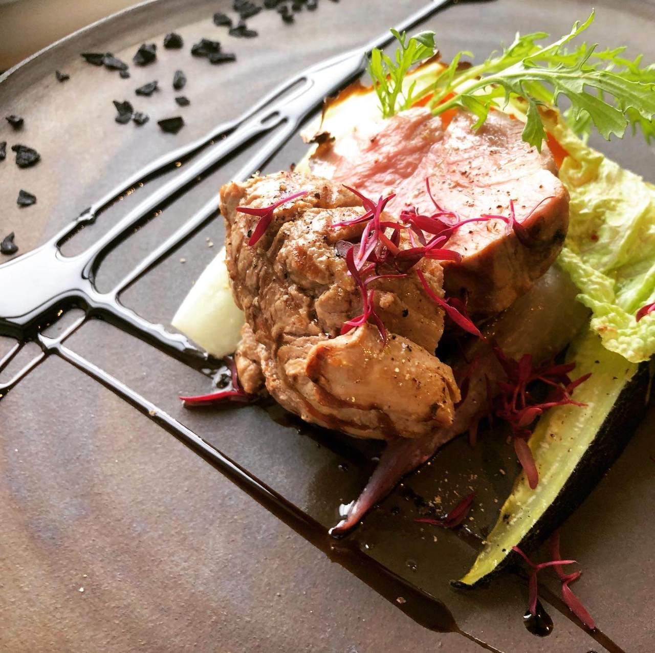 武州豚と自家製野菜