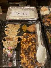 麻婆豆腐と餃子弁当