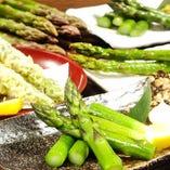海鮮だけではなく野菜やお肉にもこだわってご提供!