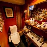 清潔で備品も充実のトイレ