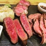 アルゼンチン牛 リブロース、サーロイン、内モモあります