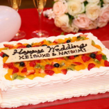 色とりどりのフルーツたっぷり♪ウエディングケーキのご用意もOK