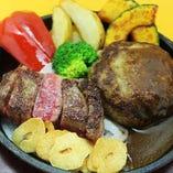 Akalaステーキ50g&ハンバーグ