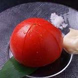 熊本産塩トマトの冷しトマト