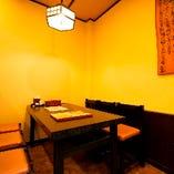 会話重視の宴会に相応しいテーブル席(~6名様×2卓)