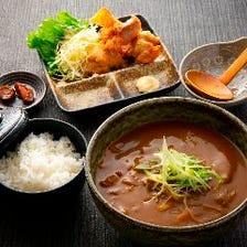 朝挽き鶏のカレー唐揚げ定食