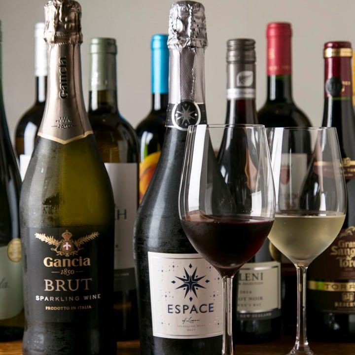 種類豊富にワインも有♪最中名物料理と一緒に是非様々なお酒を♪