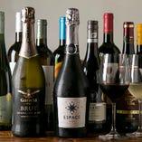 料理にあうワインを多数ご用意!