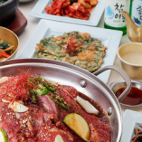韓国料理が初めての方にも食べていただきやすいプルコギ鍋コース