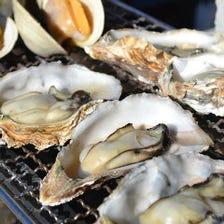 新鮮魚介類の海鮮セルフ焼き食べ放題