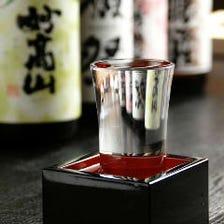 +400円(税抜き)銘酒も飲み放題に!