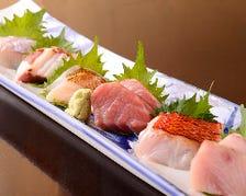 名物【極上天然鮮魚の刺身7点盛り】