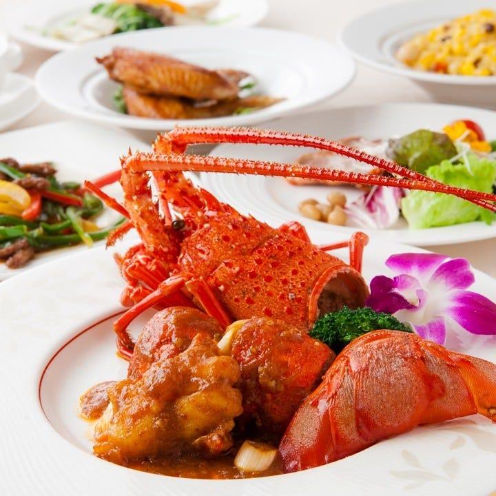 見た目にも華やかな中華のコースは大切な日の会食に最適です