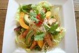 海老とパパイヤのサラダ