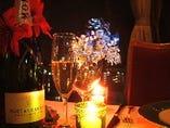 誕生日や記念日のお祝いにケーキや花束のご用意も承っております