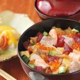 ばらちらし (ミニサラダ・茶碗蒸し・味噌汁付き)