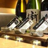 【厳選 北の酒】北の地酒の飲み比べセット3種…990円(税抜) 北の地酒を飲み比べできるお得なセットです。その日おすすめの銘柄をスタッフチョイスでお届けします。