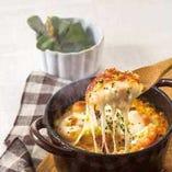 海老とモッツァレラのイセエビ風味クリームドリア