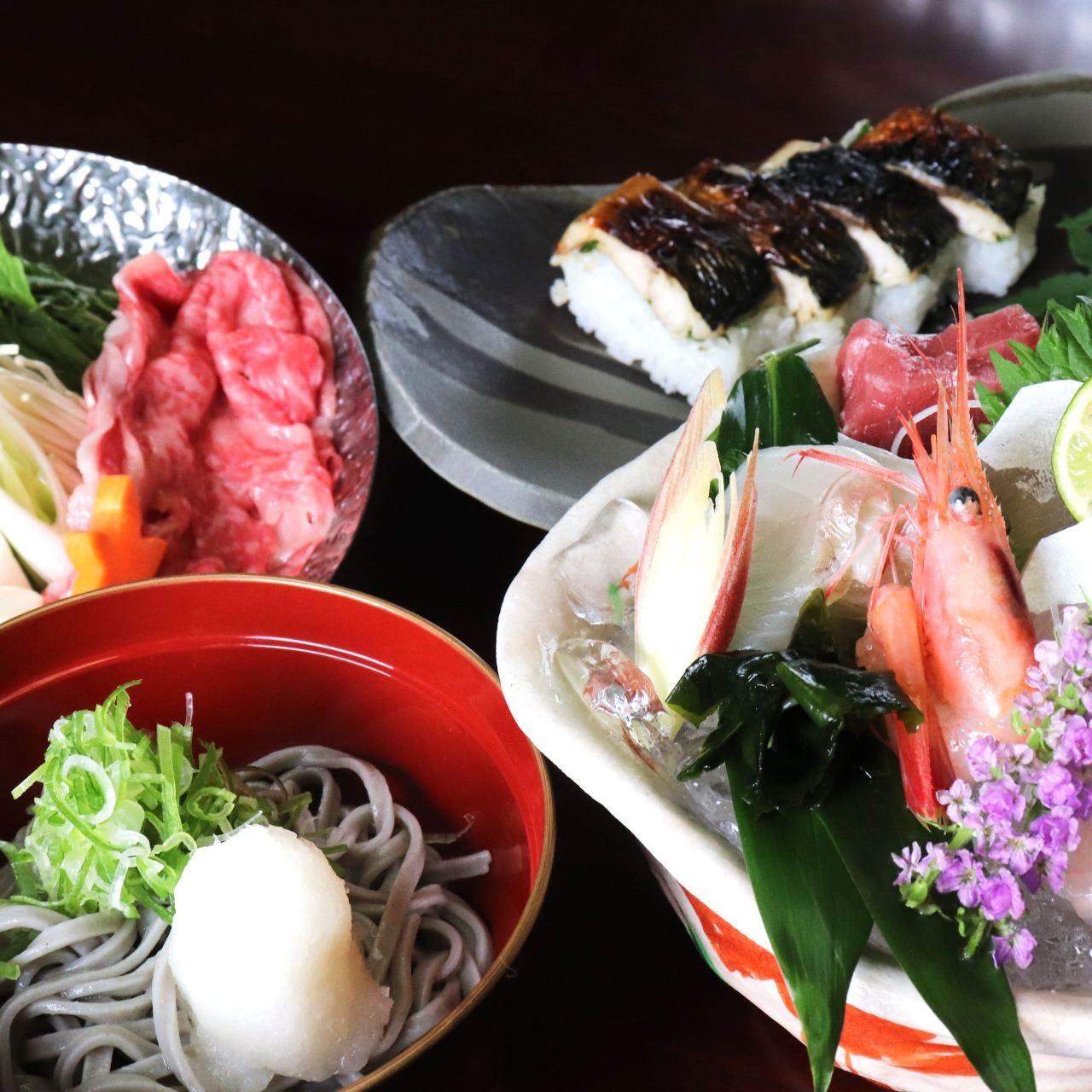 【接待に、観光に最適】当店のみで福井の味覚を堪能!福井の味覚食べ尽くしコース 4000円