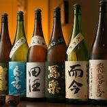 鮮魚に合わせておいしい日本酒もご用意。 日本酒も時期により様々な内容を揃えています! 今の気分などでおすすめの銘柄を聞くのもOK!素材本来の味を楽しんでください。