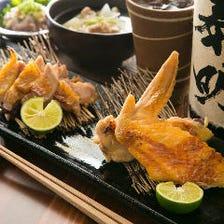 鮮度バツグンの軍鶏(シャモ)料理