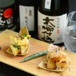 筍の炭火焼き ~田楽味噌と醤油~