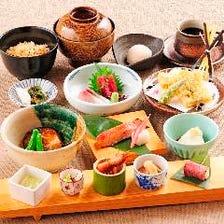 バラエティに富んだお昼の和食御膳