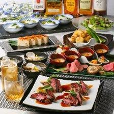 多彩なコース料理は接待やご宴会に
