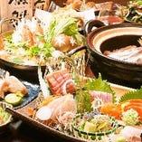 コース料理で大人数宴会もお任せ下さい