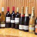 ワインや日本酒など牡蠣と相性の良いお酒を豊富にご用意♪