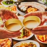 絶品韓国料理はビールやハイボール、生マッコリとご一緒にどうぞ