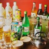 ビールや韓国酒など多彩なドリンクを用意