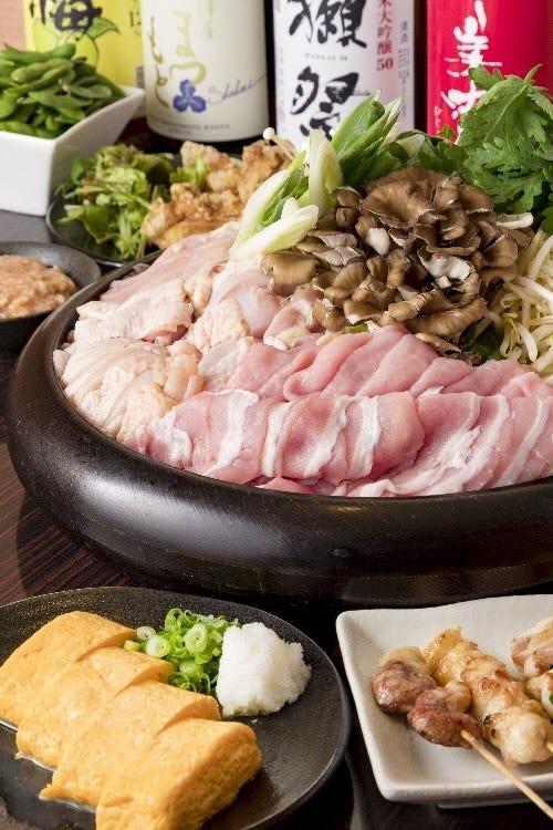 ★寒い季節にはこれ★ あいだ特製鶏豚ちゃんこ鍋コース