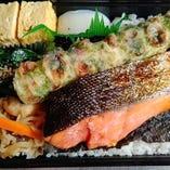 鮭弁当(調理時間30分程)