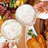 食べ応え抜群の飲み放題付コースは女子会や誕生日・記念日に最適