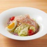 E:選べるサラダモーニング シーザーサラダ~4種チーズ使用 または生ハムサラダ