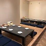 人気のお座敷約15名様、テーブル席約16名様、合計約31名様までご利用可能です
